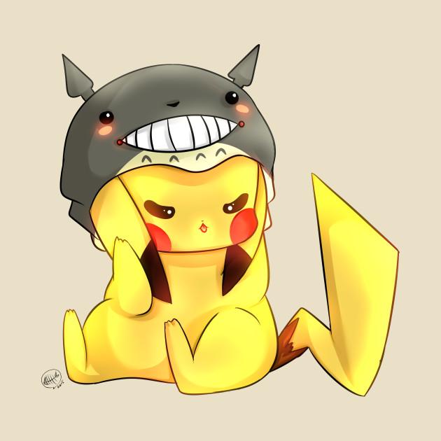 Pikachu in a Totoro Hat