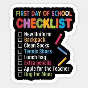 First Day Of School Stickers | TeePublic