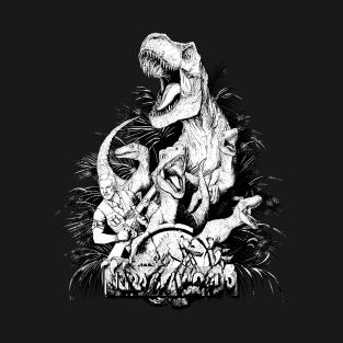 Jurassic Squad(B/W) t-shirts