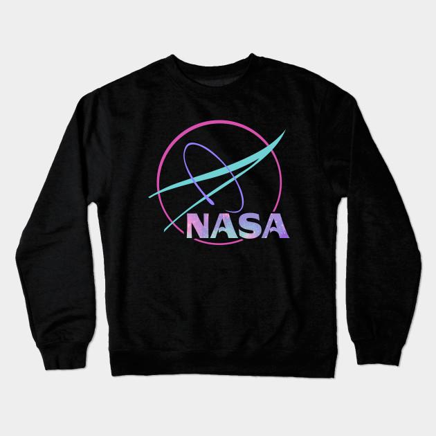 ab5923cc9 NASA Pastel Rainbow Classic Logo Graphic T-Shirt Crewneck Sweatshirt