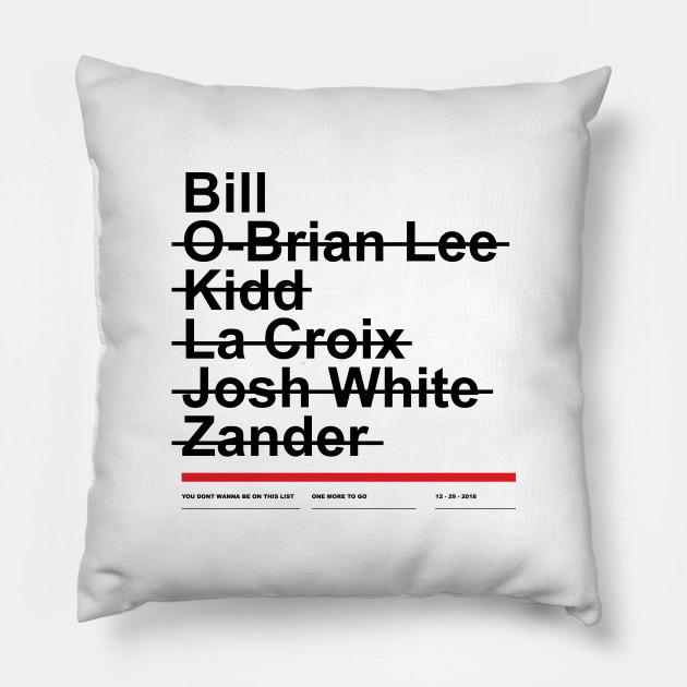 Hitman List Hitman Pillow Teepublic