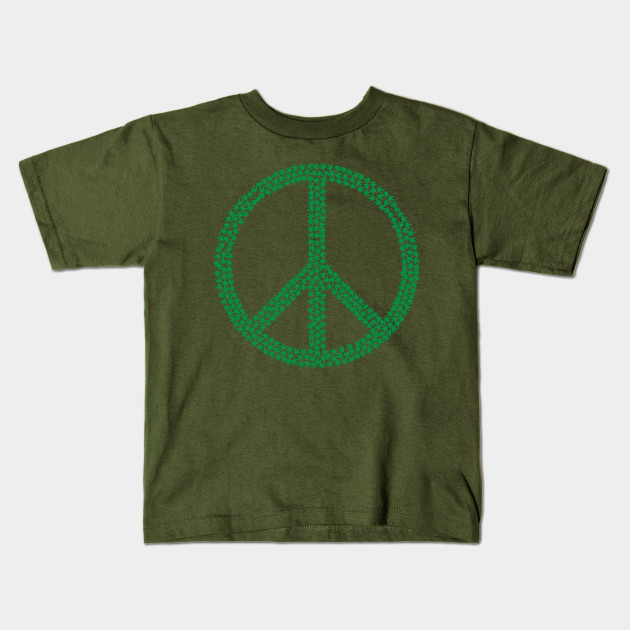 Marijuana Leaf Peace Symbol 420 Weed Ganja Shirt Cannabis Kids T