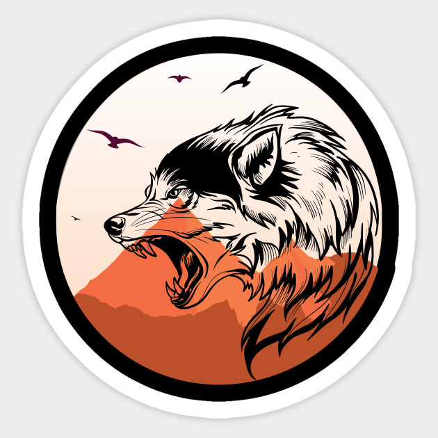 Wild Wolf Cool And Beautiful Design