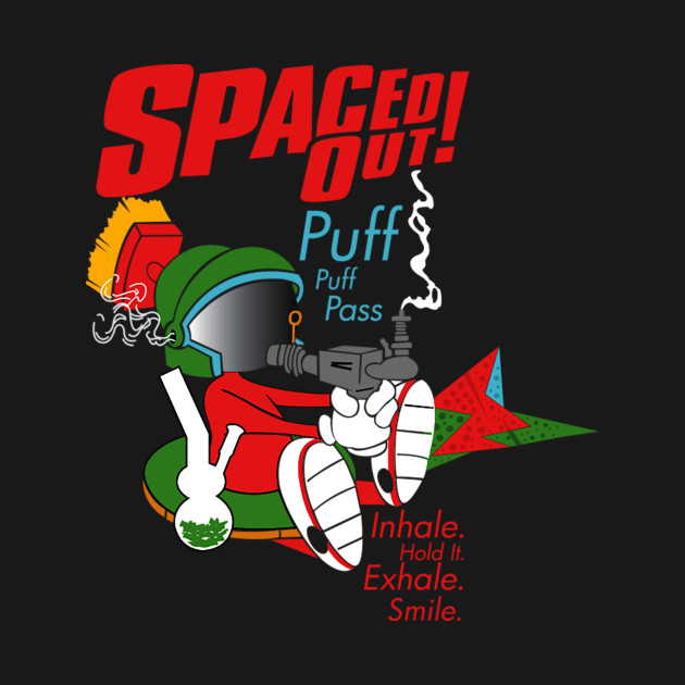 spaced out puff puff pass inhale hold it exhale smile retro 7