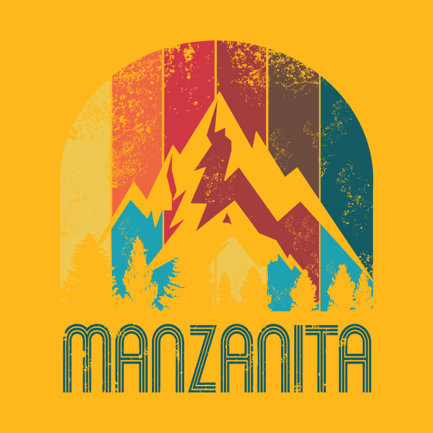 Retro City of Manzanita T Shirt for Men Women and Kids - Manzanita ...