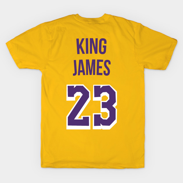 new style aa9c4 476b4 Lebron James 'King James' Nickname Jersey - Los Angeles Lakers