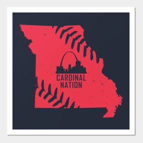 st louis cardinals posters and art prints teepublic