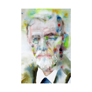 SIGMUND FREUD - watercolor portrait.2 t-shirts