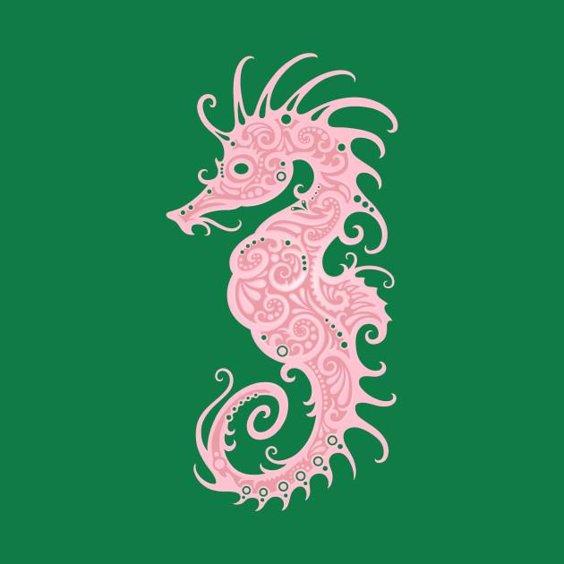 intricate pink tribal seahorse design seahorse t shirt teepublic