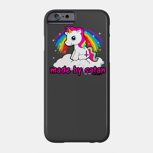 61163a178 Made By Satan Shirt - - Offensive Tshirts, Satanic Shirts, Funny Atheist  Shirt Phone Case