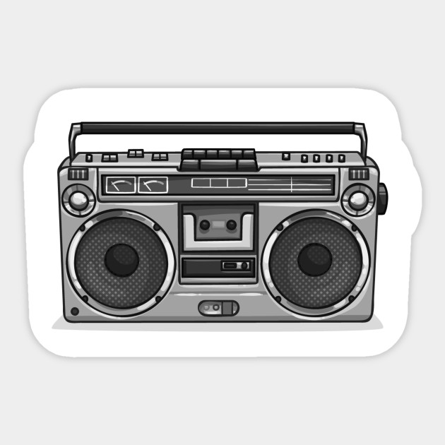 Old School Hip Hop Mix Tape Boombox The Culture T Shirt