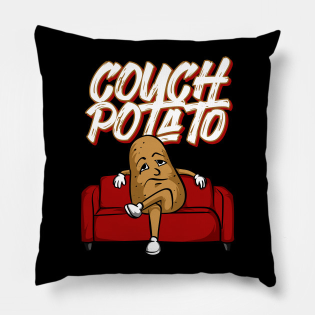 Funny Couch Potato Lazy Vegetable Television Sofa Design Pillow