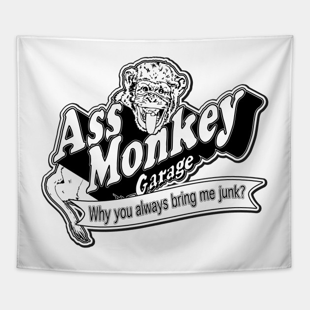 d42608c26a8 Ass Monkey Garage - Television - Tapestry