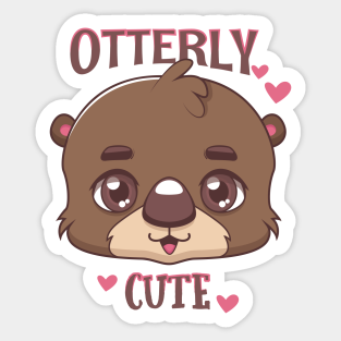 Otterly Adorable 4x4 Stickers