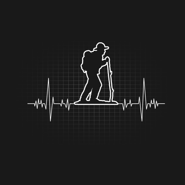 81fb37fdb0a Hiking Heartbeat Gift for Hikers I Love Hiking - Hiking - T-Shirt ...