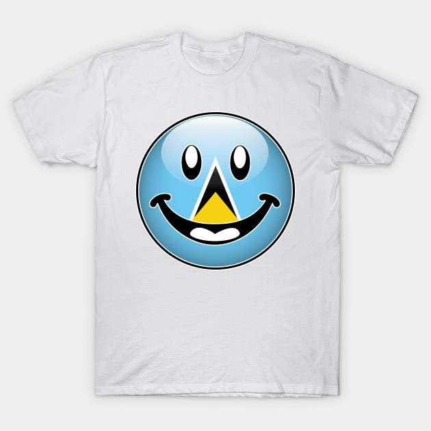 St Lucia National Flag Happy Smiley Emoji