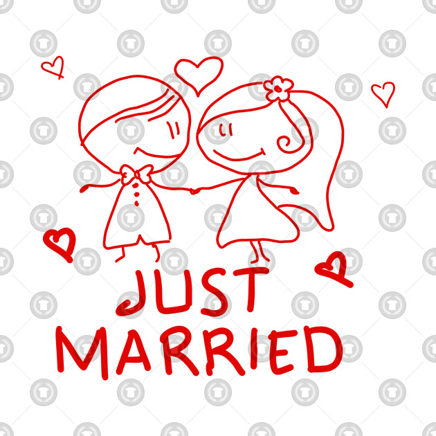 Just  Married T-SHIRT Just  Married