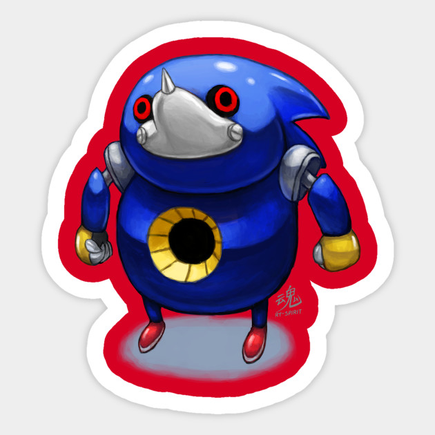 Ugandan Metal Sonic - Metal Sonic - Sticker