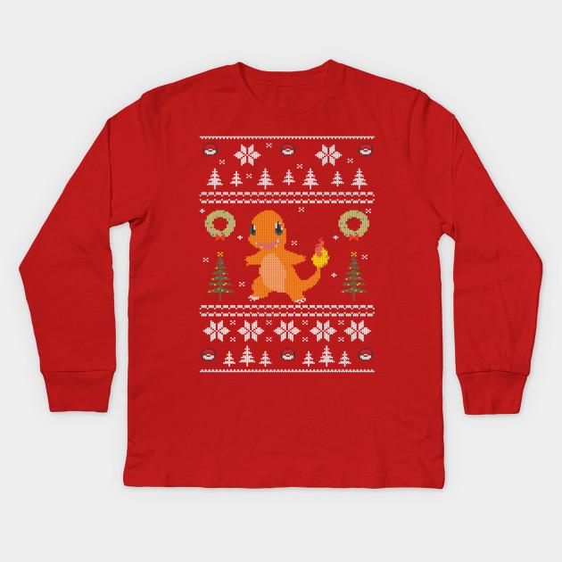 2848f9b8 Ugly Christmas Sweater Pokemon Starter - Christmas - Kids Long ...