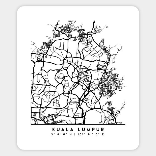 KUALA LUMPUR MALAYSIA BLACK CITY STREET MAP ART on klang valley kuala lumpur map, riga street map, san miguel de allende street map, bukit bintang kuala lumpur map, djibouti street map, cusco street map, chinatown kuala lumpur map, kampala street map, kuala lumpur country map, damascus street map, swakopmund street map, nairobi embassy map, george town street map, genting highland kuala lumpur map, kuala lumpur asia map, kuala lumpur on world map, wan chai street map, kuala lumpur geographical map, sarajevo street map, colombo street map,