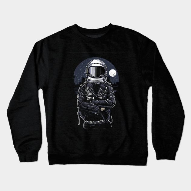 8df8ab14f647 Cool Crossed Arms Hipster Astronaut Design - Astronaut - Crewneck ...