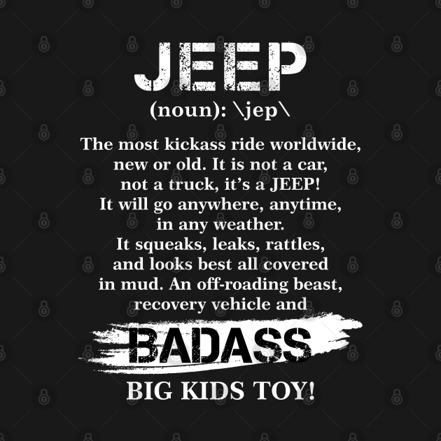 Funny Jeep Definition For Jeep Lovers