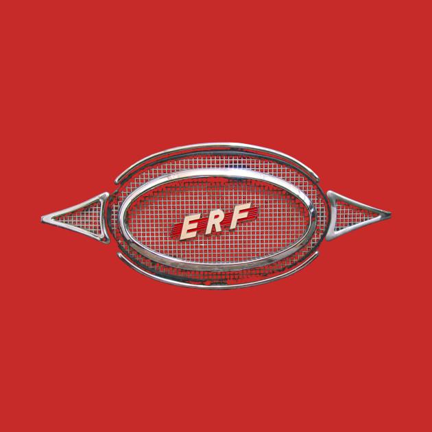 ERF vintage truck logo badge