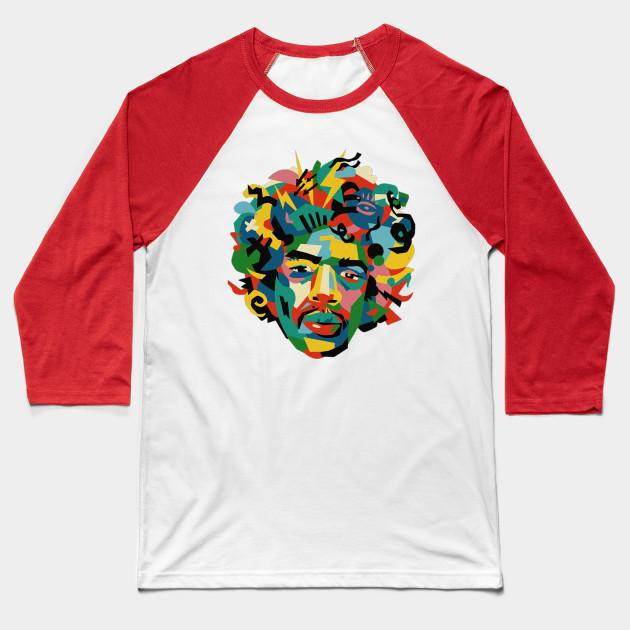 Jimi Hendrix Singer Baseball T Shirt Teepublic