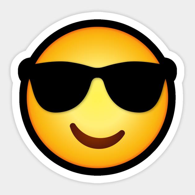 Face With Sunglasses Emoji Design - Emoji - Sticker ...