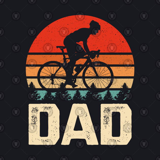Vintage Retro Bicycle Cycling Shirt Gifts For Cyclist Dad