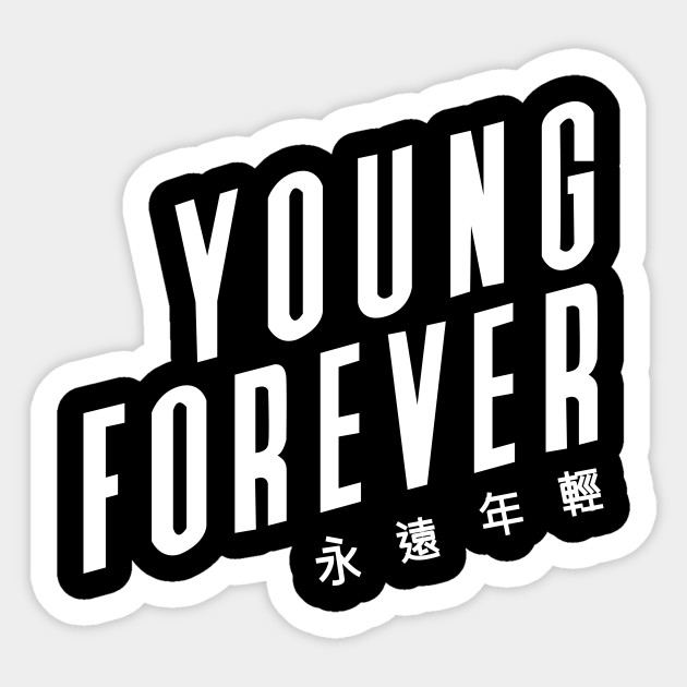 Young Forever Bts Black Bts Sticker Teepublic