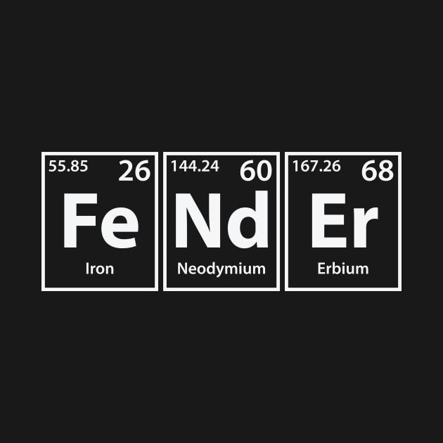 Fender (Fe-Nd-Er) Periodic Elements Spelling
