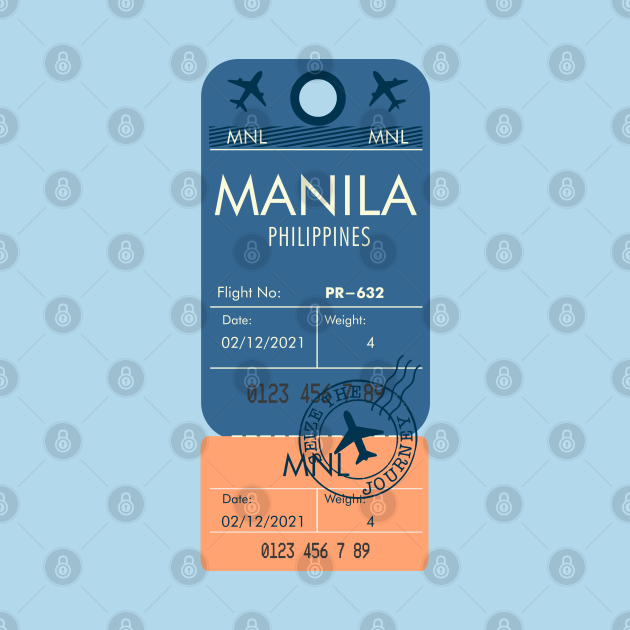 RETRO PLANE TICKET MANILA PHILIPPINES PHONE CASE FILIPINO