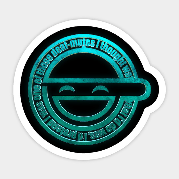 The Laughing Man Ghost In The Shell Sticker Teepublic