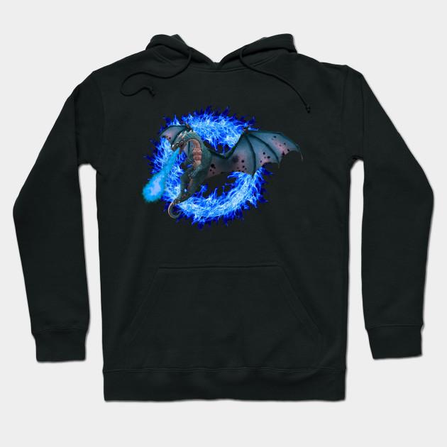 90f2249d2 Blue Fire Dragon - Dragon - Hoodie   TeePublic