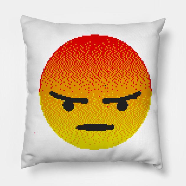 Emoji Cuscini.Angry Emoji Emoji Cuscino Teepublic It
