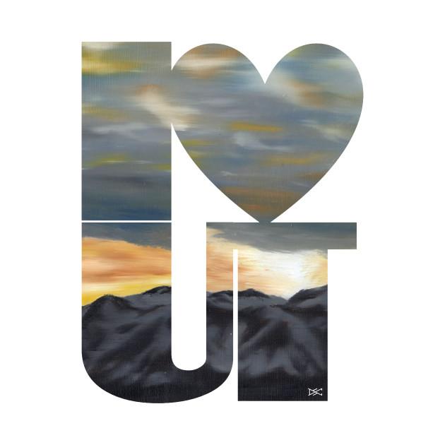 I love Utah Mountain Dawn Silhouette