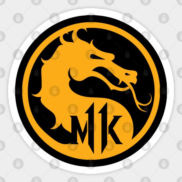 Mortal Kombat Logo Mortal Kombat 11 Sticker Teepublic