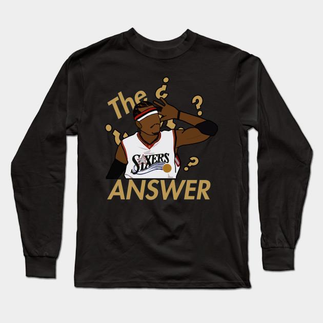 100% authentic 76fd8 855fb Allen Iverson 'The Answer' - NBA Philadelphia 76ers