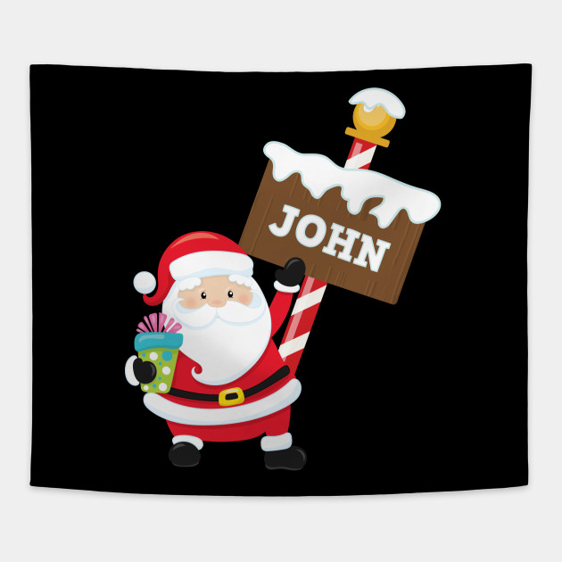 John Custom Name Santa Claus Christmas Gift