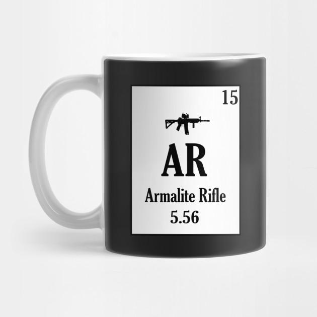 Ar 15 Periodic Table Style Gun Shirt Ar 15 Gun Rights Mug