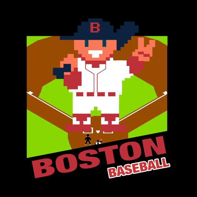 Boston Baseball 8 bit pixel art cartridge design