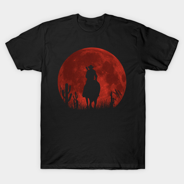 red moon red dead redemption t shirt teepublic