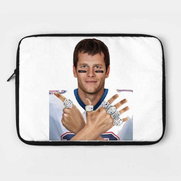 Tom Brady 6 Rings Tom Brady Housse De Portable Teepublic Fr