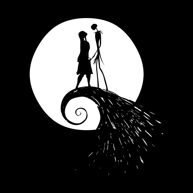 Nightmare Before Christmas Illustration.The Nightmare Before Christmans Moon Simple By Devil 89