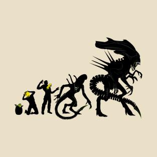 Alien Evolution t-shirts