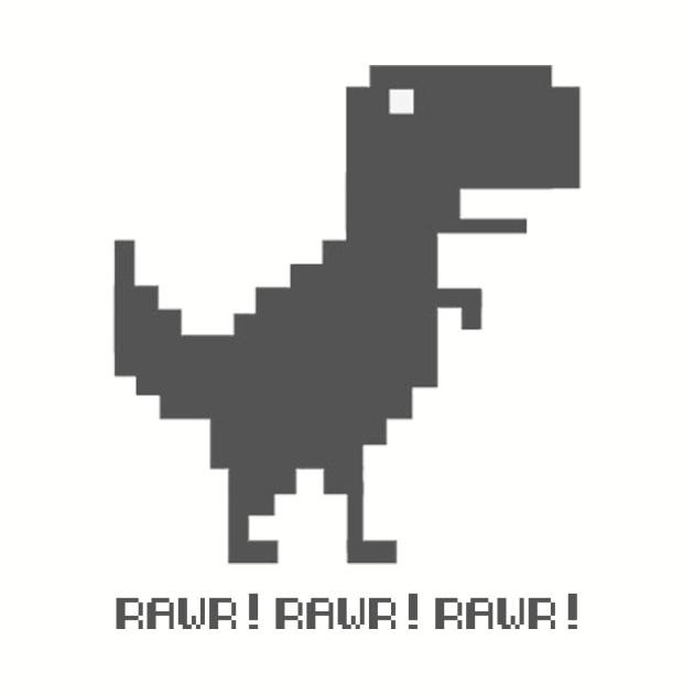 Chrome T-Rex Dinosaur Rawr!