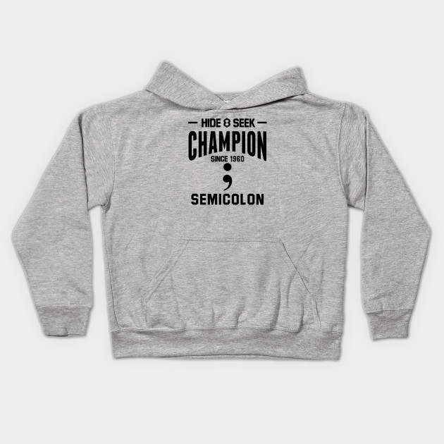 Hide & Seek Champion since 1960 Semicolon black
