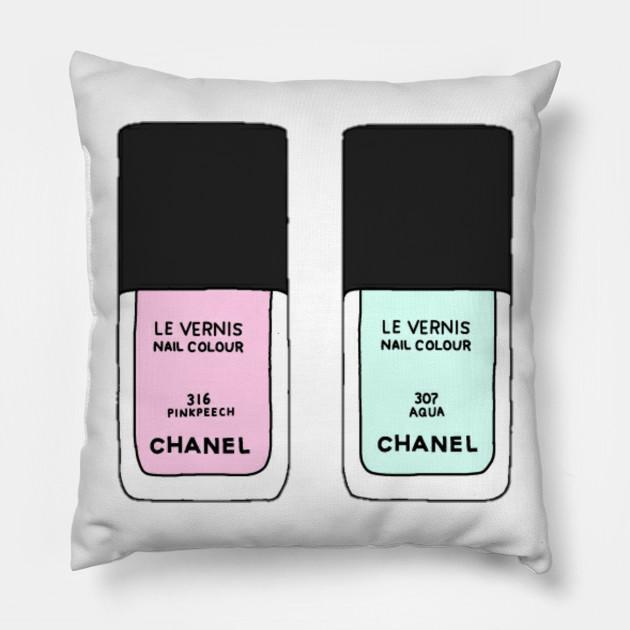 Cuscini Chanel.Chanel Le Vernis Chanel Cuscino Teepublic It