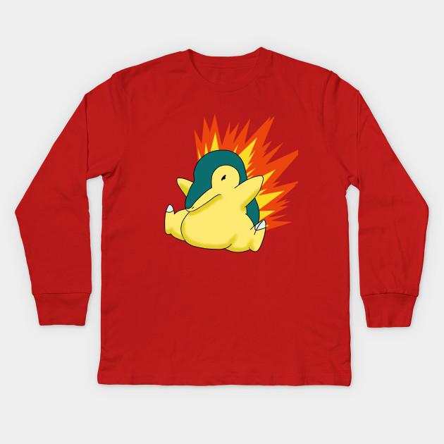 89bb85ce Cyndaquil - Cyndaquil - Kids Long Sleeve T-Shirt | TeePublic